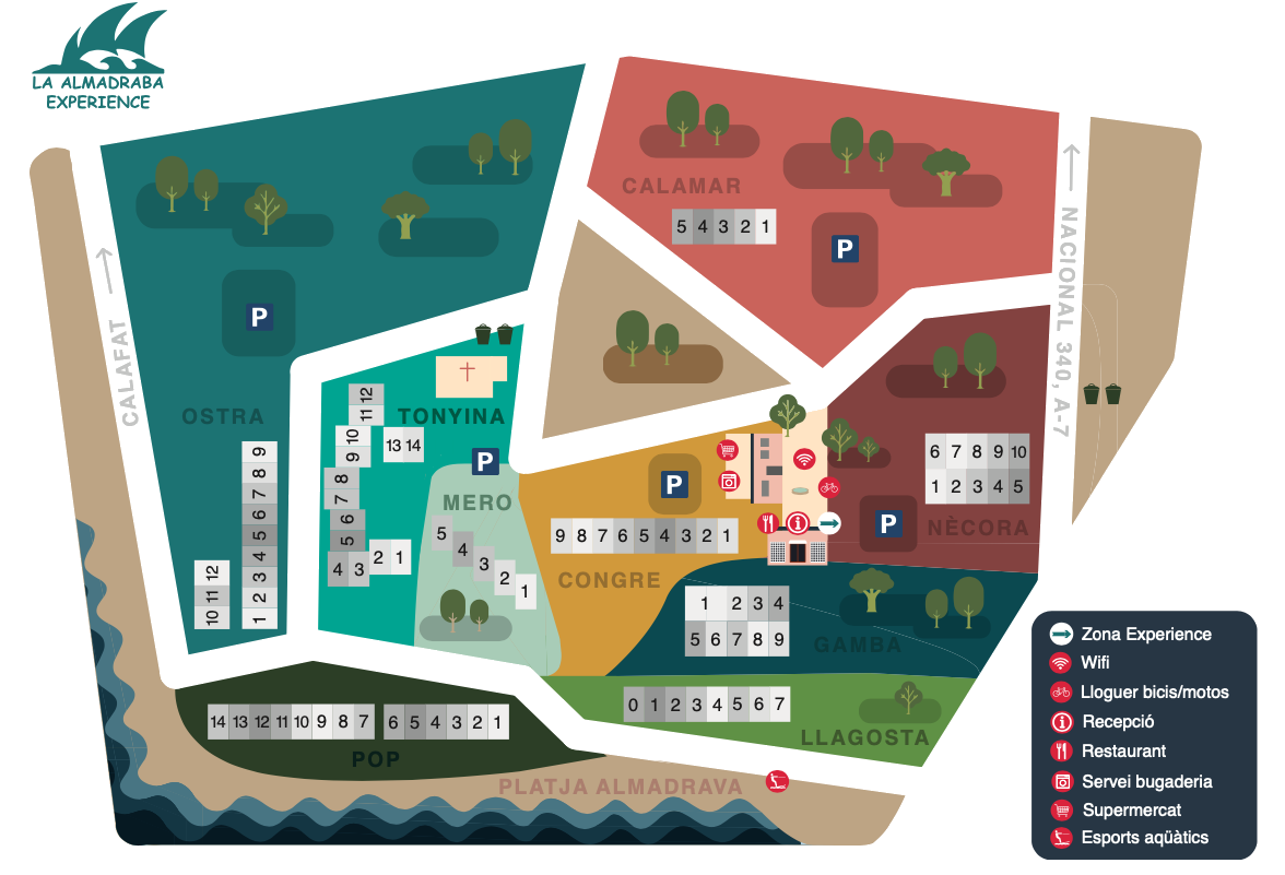 mapa la Almadraba Costa Dorada